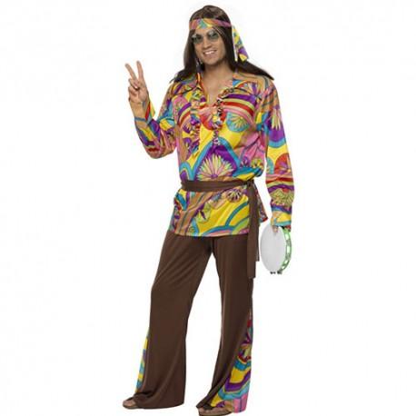 Costume homme hippie psychédélique