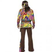 Costume homme hippie psychédélique dos