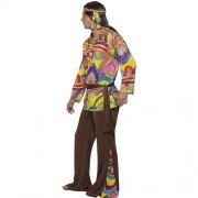 Costume homme hippie psychédélique profil