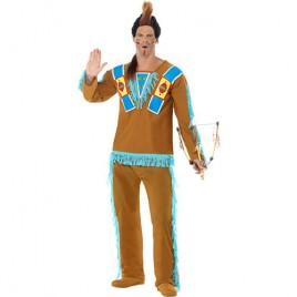 Costume homme indien marron bleu