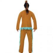Costume homme indien marron bleu dos