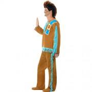 Costume homme indien marron bleu profil