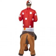 Costume homme jockey cheval gonflable dos