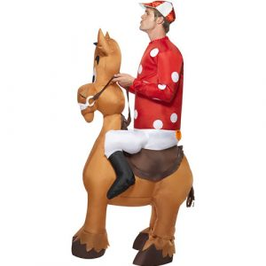 Costume homme jockey cheval gonflable profil