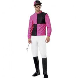 Costume homme jockey noir violet