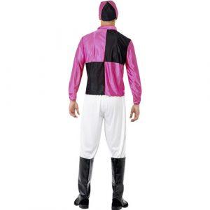 Costume homme jockey noir violet dos