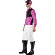 Costume homme jockey noir violet profil