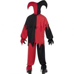 Costume homme joker noir rouge dos