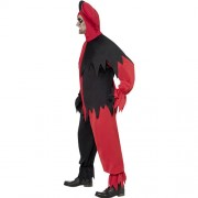 Costume homme joker noir rouge profil