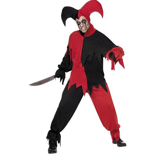 costume homme joker noir rouge haut et pantalon. Black Bedroom Furniture Sets. Home Design Ideas