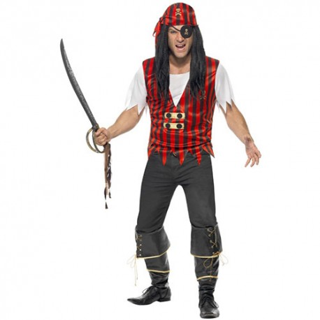 Costume homme kit pirate rayé