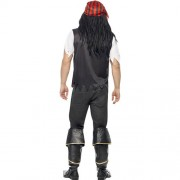 Costume homme kit pirate rayé dos