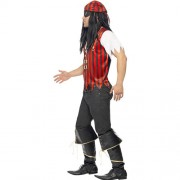 Costume homme kit pirate rayé profil