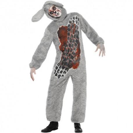 Costume homme lapin écrasé