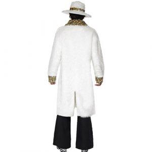 Costume homme mac blanc léopard dos
