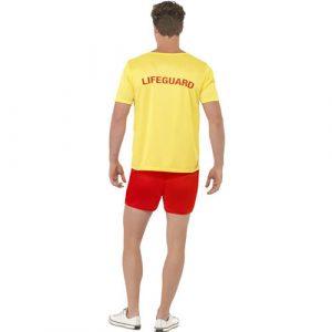 Costume homme maître nageur plage dos