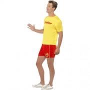 Costume homme maître nageur plage profil