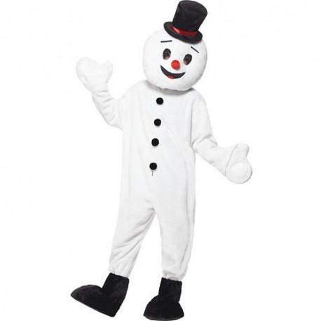 Costume homme mascotte bonhomme neige