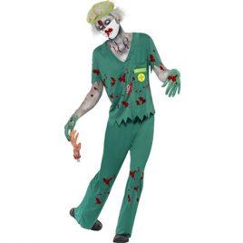 Costume homme médecin urgences zombie