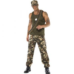 Costume homme militaire camouflage