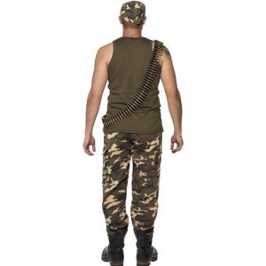 Costume homme militaire camouflage dos