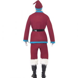 Costume homme père Noël bordeaux dos