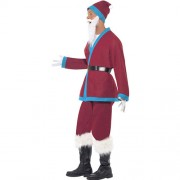 Costume homme père Noël bordeaux profil