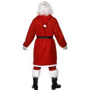 Costume homme père Noël jovial dos