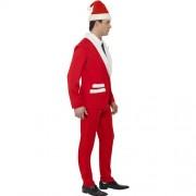Costume homme père Noël élégant profil