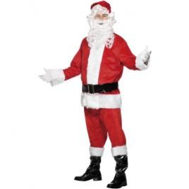 Costume homme père Noël velours