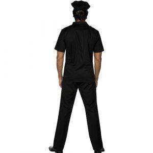Costume homme policier dos