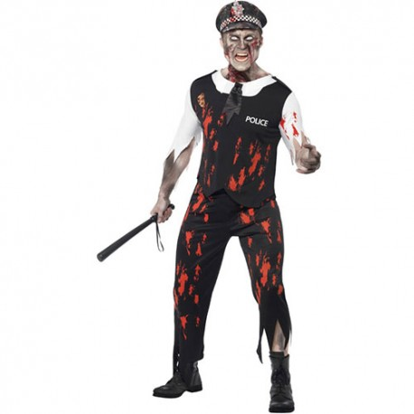 Costume homme policier zombie