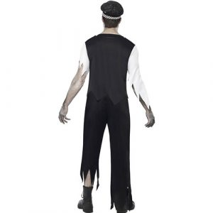 Costume homme policier zombie dos