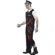Costume homme policier zombie profil