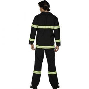 Costume homme pompier dos