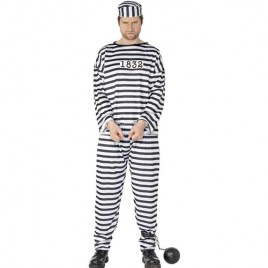 Costume homme prisonnier rayé