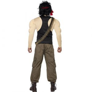 Costume homme Rambo dos