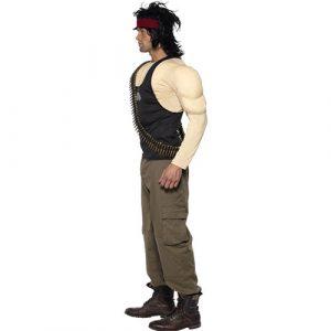 Costume homme Rambo profil