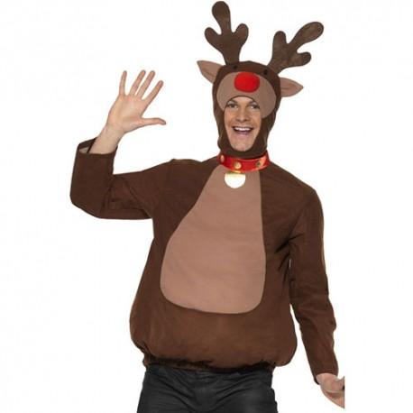 Costume homme renne Noël marron