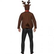 Costume homme renne Noël marron dos