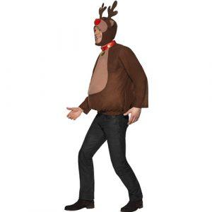 Costume homme renne Noël marron profil
