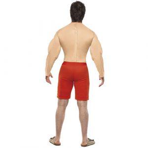 Costume homme sauveteur musclé dos