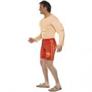 Costume homme sauveteur musclé profil