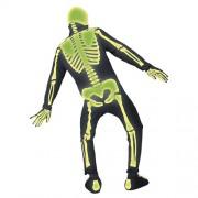 Costume homme squelette néon vert dos