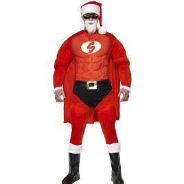 Costume homme super Père Noël
