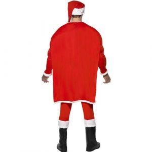 Costume homme super Père Noël dos