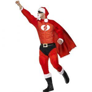 Costume homme super Père Noël profil