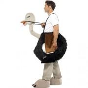 Costume homme sur autruche profil