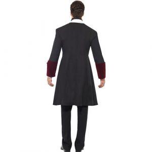 Costume homme vampire gothique sombre dos