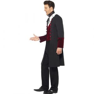 Costume homme vampire gothique sombre profil
